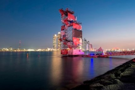 NUSSLI Erects the Diving Platform for the 2016 High Diving World Cup in Abu Dhabi