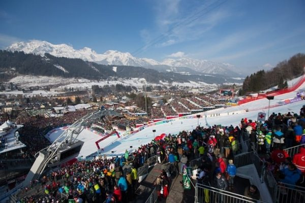 Planning for a finish arena with space for 28,500 spectators began a whole three years before the 2013 Ski World Cup in Schladming.