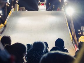 The first European big air double world cup ARAG Big Air Festival brought winter sports to the city and rounded up the greatest freestyle sports stars.