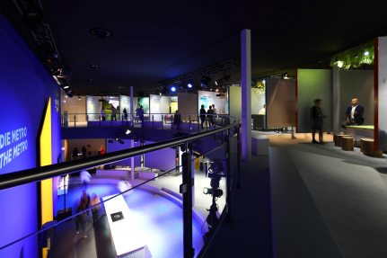"The two story interactive exhibition, ""METRO unboxed"" includes 38 stations"
