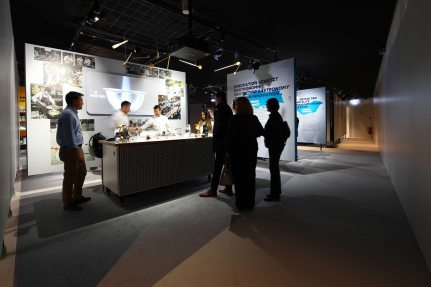 "The interactive exhibition, ""METRO unboxed"" includes 38 stations in which visitors can experience ""the new METRO"""