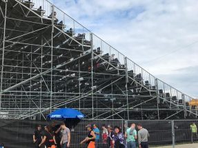 Image: NUSSLI built the sitting tribune for a total of 2,000 fans, including 400 VIP seats.