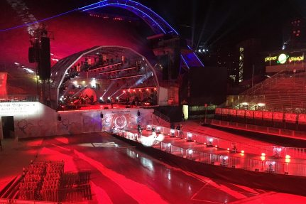 Image: Special Olympic World Winter Games, NUSSLI built a grandstand for 9,000 people, the catwalk, the stage and other