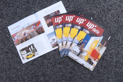 The new Customer Magazine «up'date» is here!