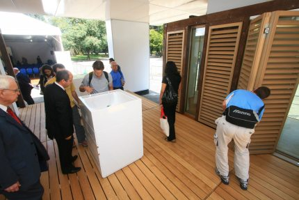 Mobile pavilion of the Energy Efficiency Roadshow