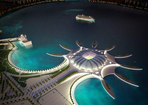 Hasil gambar untuk doha port stadium
