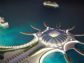 Rendering of Port Doha (2022 FIFA World Cup, Qatar candidacy)