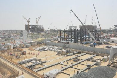 The Construction of the Austrian Pavilion at Expo 2020 Dubai is in Progress