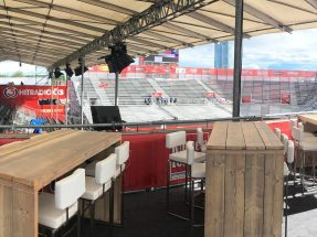 NUSSLI realized the temporary arena and additional event structures for the 2017 FIVB Beach Volleyball Championships