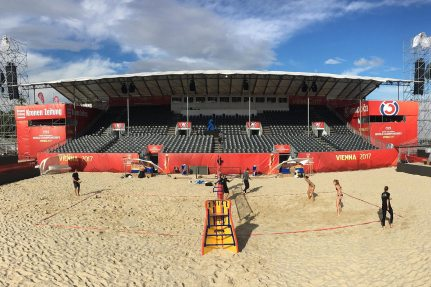 The 2017 FIVB Beach Volleyball World Championships will begin on July 28. First trainings.