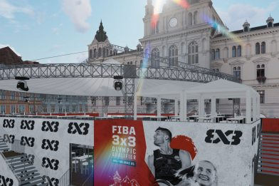 Thunderdome for the FIBA 3x3 Olympic Qualifying Tournament in Graz