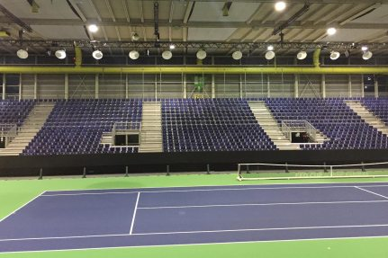NUSSLI outfits the Palexpo hall for the Fed Cup