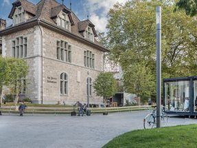 An additional location for the InCube project was set up in front of the Landesmuseum.