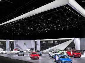 Picture: Already in 2017 NUSSLI realized the Škoda trade fair booth at Geneva Motor Show.