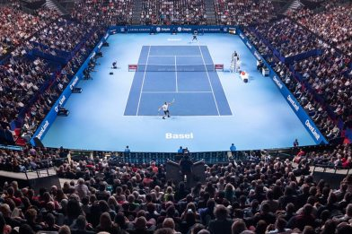 The Battle for the Title at the Swiss Indoors has begun