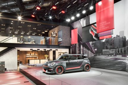 Picture: MINI is betting on an urban vintage look for its 1,200 square meter trade fair booth.