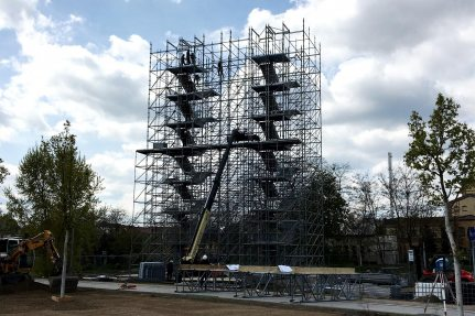 For the event, NUSSLI is constructing a 28-meter-tall Welcome Tower shaped like the Luther Bible.
