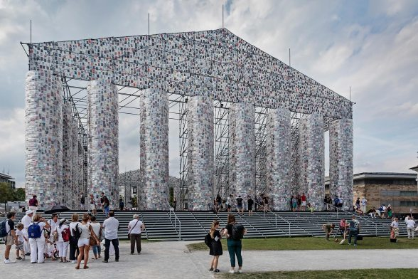 The Highlight of the Documenta 14 «The Parthenon of Books» filled with books
