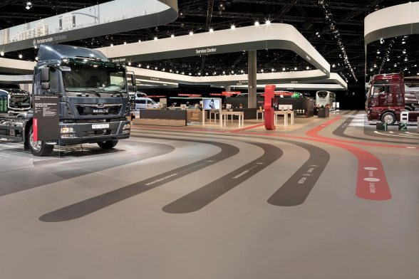 80 Trucks Deliver Material for the Presentation of 23 Vehicles and 6 Exhibits