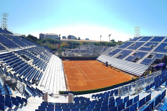 A Temporary Tennis Arena for the Barcelona Open Banc Sabadell