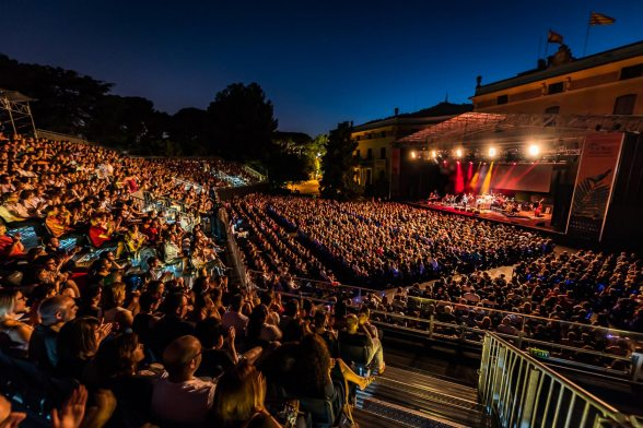 "Grandstand and Stage for the ""Pedralbes Gardens Festival"""