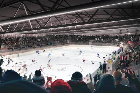 Temporary ice stadium for the Lausanne Hockey Club