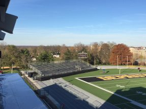 For the Monon Bell tournament, NUSSLI erected more than 5,000 additional spectator seats in the Blackstock Stadium in Gr