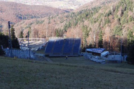 Picture: NUSSLI realized the temporary event structures for the FIS Alpine Ski World Cup in Zagreb.