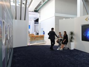"Picture: The Air Astana Pavilion ""Air Astana – A Global Carrier!"" at Expo Astana 2017"