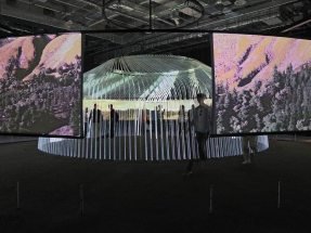 Picture: The UK-Pavilion offers a 360° panorama