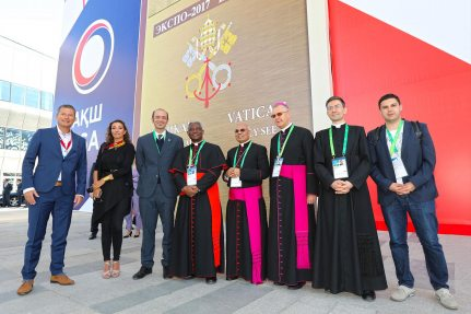 Picture: The Vatican Pavilion was opened by Cardinal Peter Turkson.