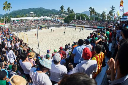 NUSSLI created a beach soccer arena with space for 2000 spectators and other event structures.
