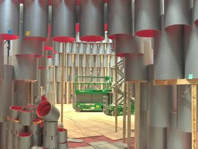 "Foto: Baustelle ""Hive"" Projekt von Studio Gang, National Building Museum Washington"