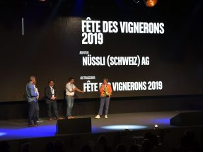 Gold for the Fête des Vignerons 2019 in the Best Supplier Services category