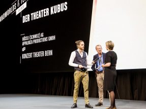 NUSSLI wins silver with the Theater Cube in Bern at the XAVER Award ceremony